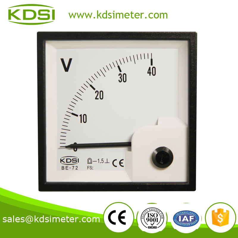 Automotive BE-72 72*72 DC40V car voltmeter