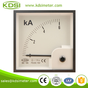 Easy operation BE-96 96*96 DC10V 6KA ammeter and voltmeter