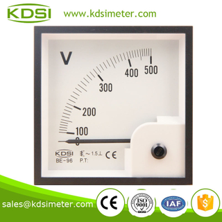 BE-96 96*96 AC Voltmeter AC500V analog voltmeter for yacht