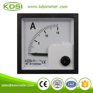 Hot sales BE-48 48*48 DC75mV 15A panel ampere meter