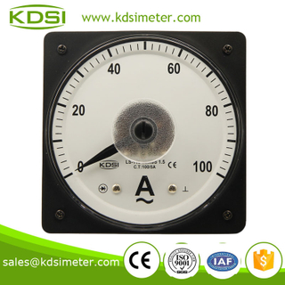LS-110 AC Ammeter 100/5A wide angle ac analog galvanometer