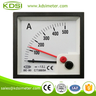 Easy operation BE-80 AC500 / 5A rectifier with red pointer panel mount ammeter