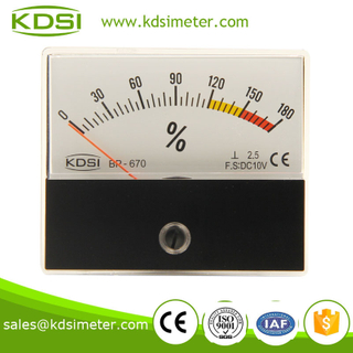 KDSI rectangular BP-670 DC10V 180% dc analog panel voltage load meter