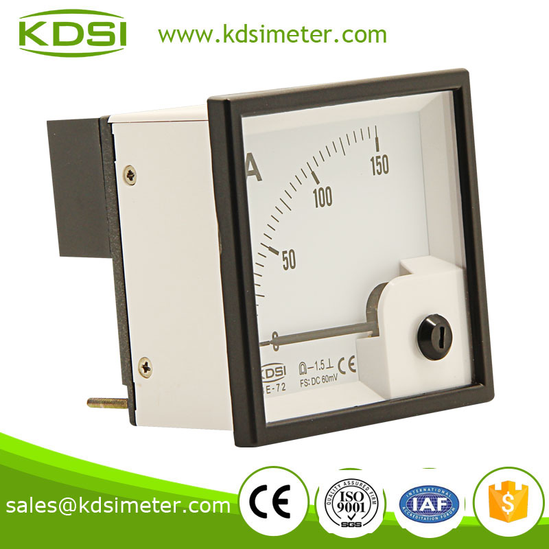 Small & high sensitivity BE-72 72*72 DC 60mV 150A electronic ammeter voltmeter