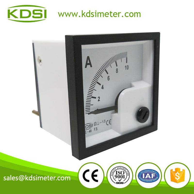 Small & high sensitivity BE-48 DC10A analog dc ampere meter