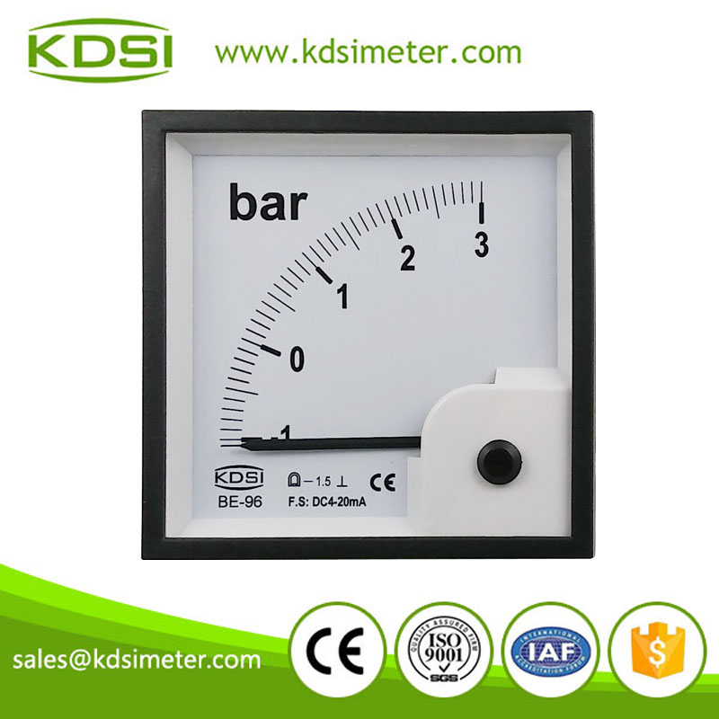 Taiwan technology BE-96 96*96 DC4-20mA -1-3bar panel pressure meter